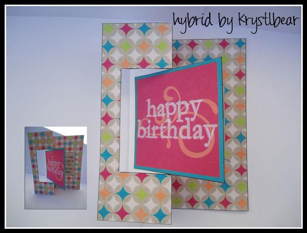 Happy Birthday Swing Fold Card
