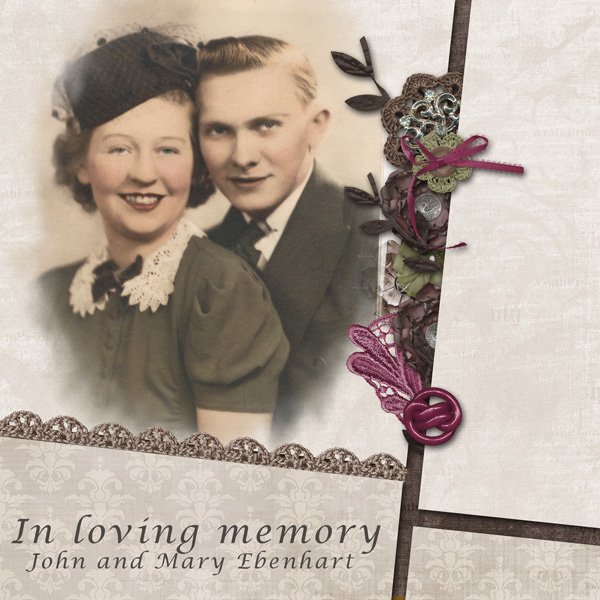 In Loving Memory - John and Mary Ebenhart