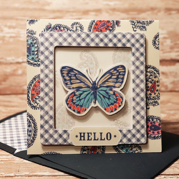 Hello Card with matching envie