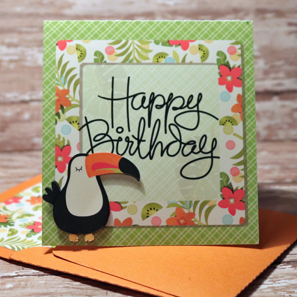 Happy Birthday cards with matching envie
