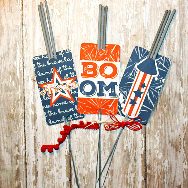 4th of July Sparkler holders
