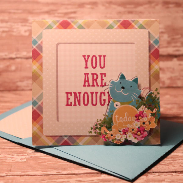 You Are Enough card with matching envie