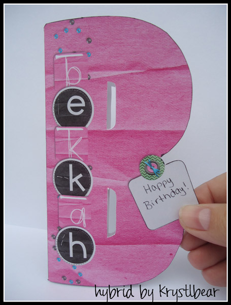 Happy Birthday-Letter Card