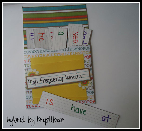High Frequency Words Pocket