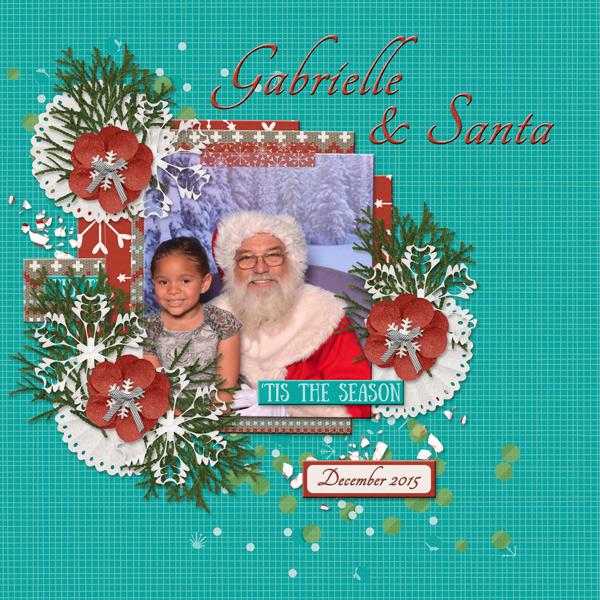 Gabrielle & Santa
