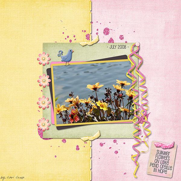 Summer Flowers on Lake Pend Oreille