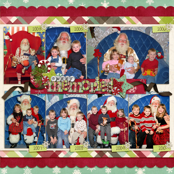 Visiting Santa over the years