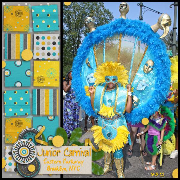 Blue & Gold Junior Carnival Princesses #2