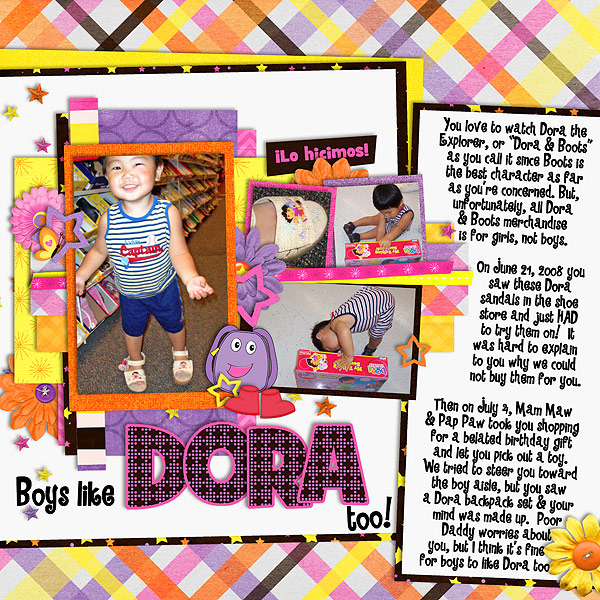 Boys Like Dora too