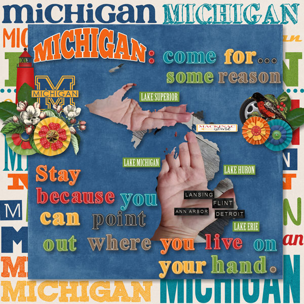 Michigan Hand Map