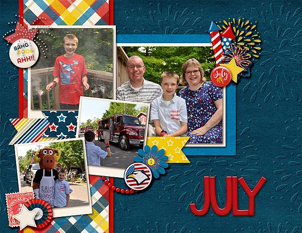 July Calendar Top