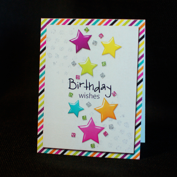 Lets Party birthday card 1