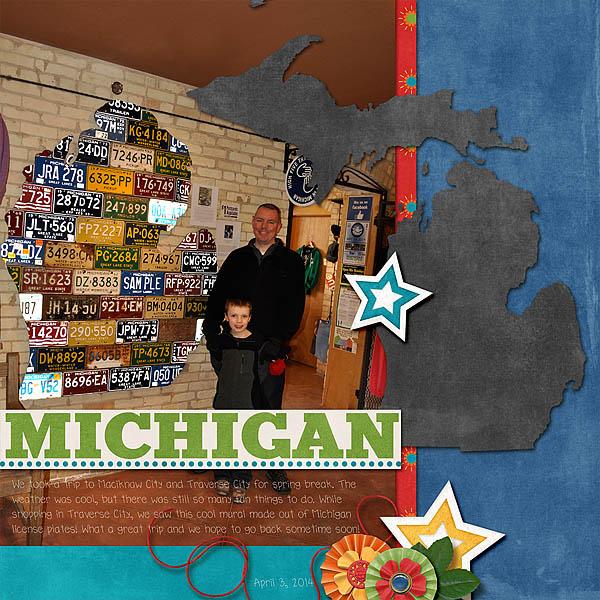 Michigan License Plate Wall
