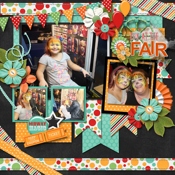 July 2018 Template Bundle and Fun at the Fair Collection both by Connie Pri