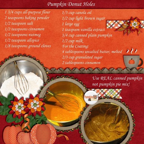 Pumpkin Donut Holes (Recipe)