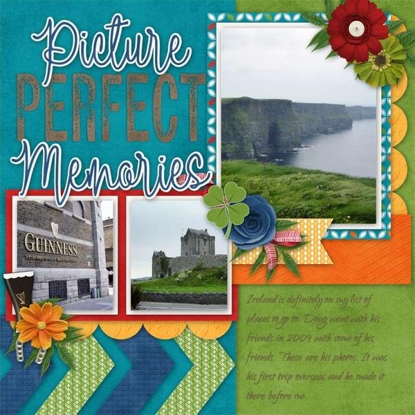 Travelogue Ireland - April template bundle