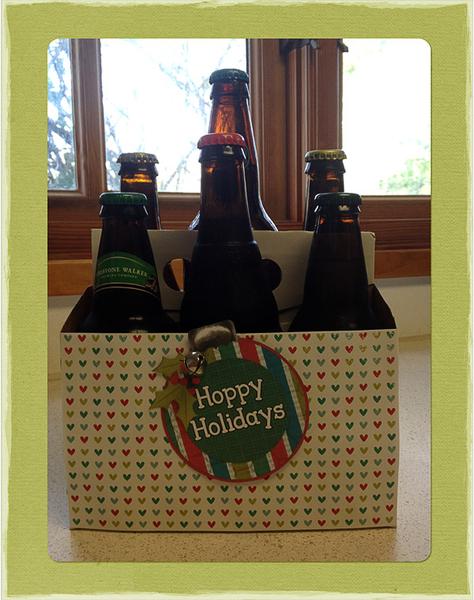 Hoppy Holidays tag