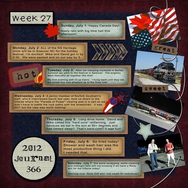 Journal 366, Week 27