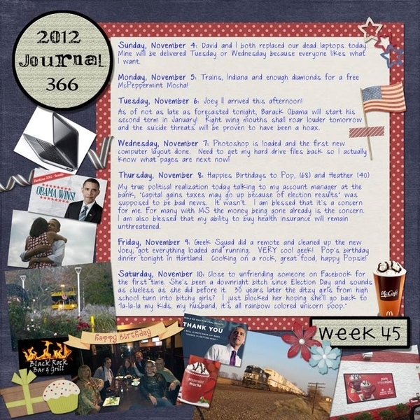 Journal 366, Week 45