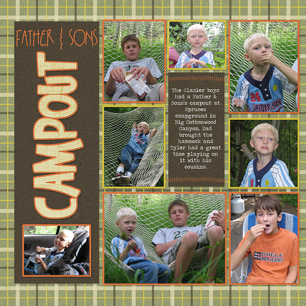 Father and Son's Campout Pg. 1