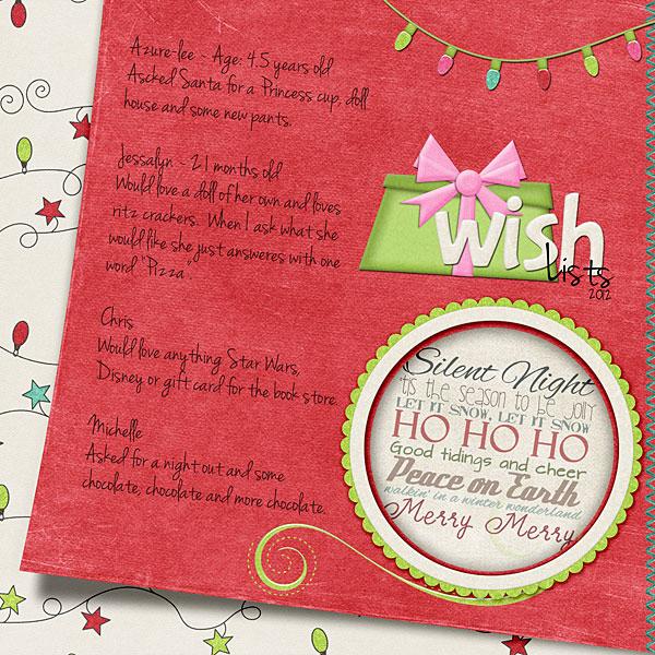 2012 Wish List