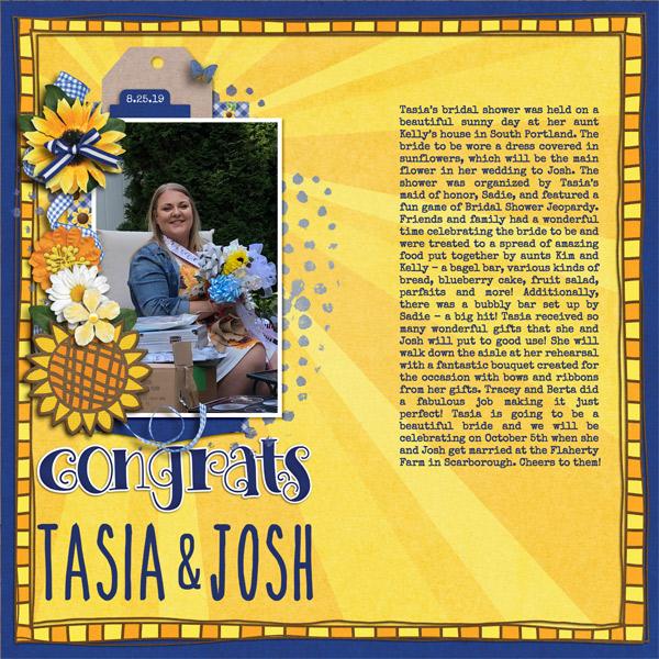 Congrats Tasia & Josh