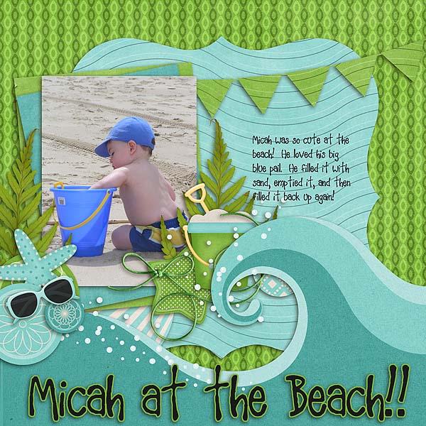 Micah at the Beach
