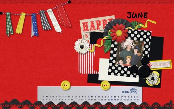 June Happy Desktop