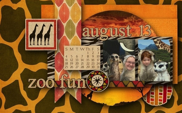Desktop Challenge: July (for August '13) Zoo Fun