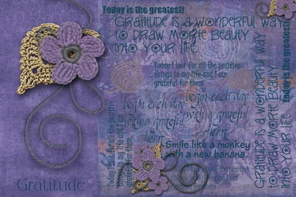 Gratitude Art Journal BB page