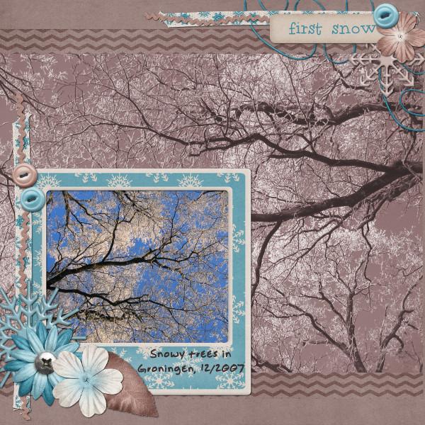 Snowy Trees in Groningen