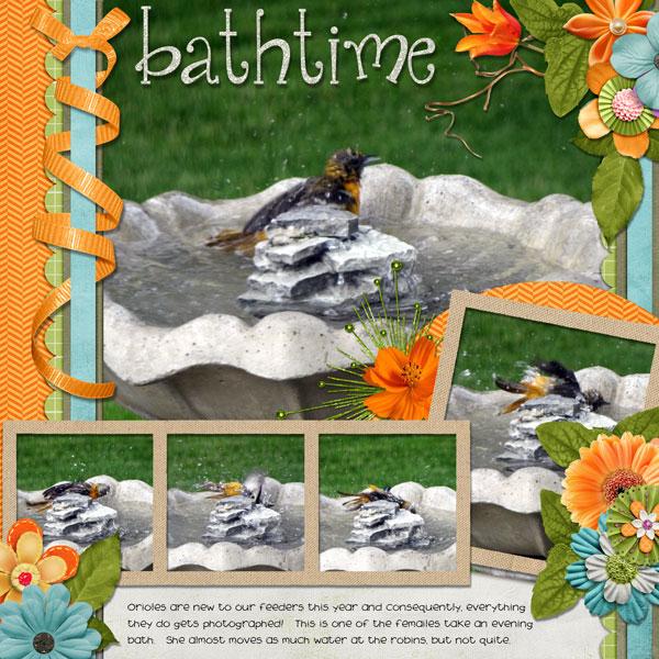 Oriole Bathtime