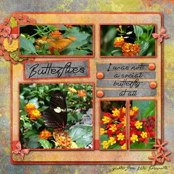 Butterflies: Template challenge Second half of July