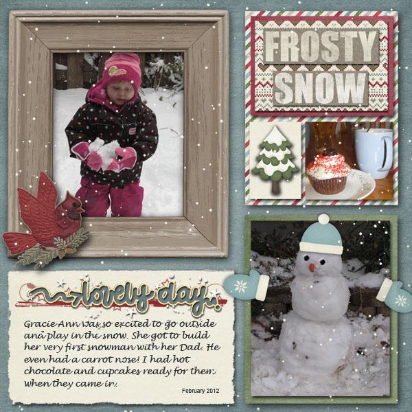 Gracie's first snowman