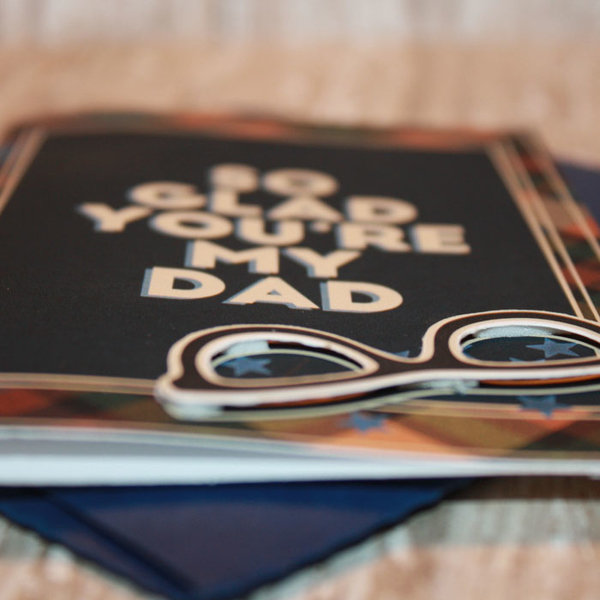 Father's Day Card with matching envie