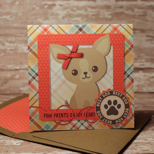 Furbaby Card with matching envie