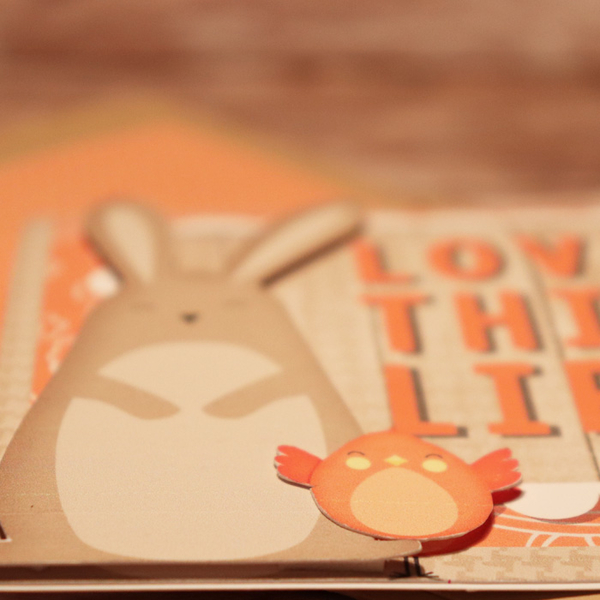 Love This Life Bunny Card Details