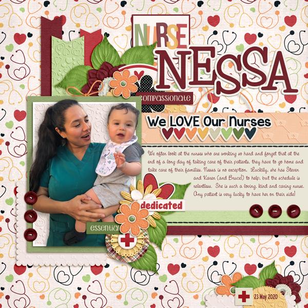 Nurse Nessa and Baby Bruce