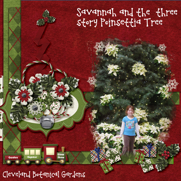 Savannah and The Three Story Poinsettia Tree
