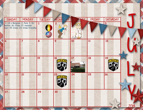 July Sum Up Calendar
