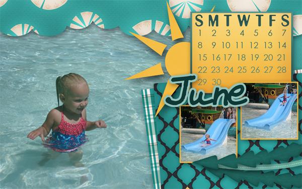 MissK on the water slide