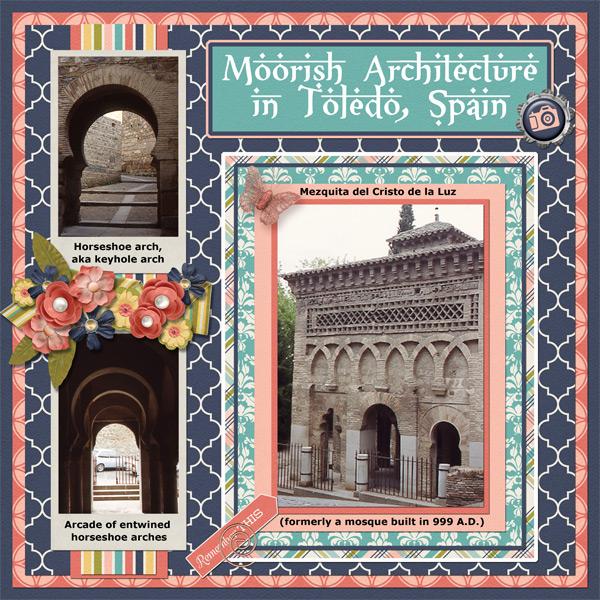 Moorish architecture in Toledo, Spain