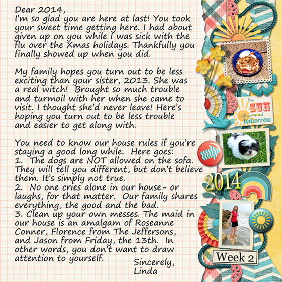 Week 2- Letter to 2014