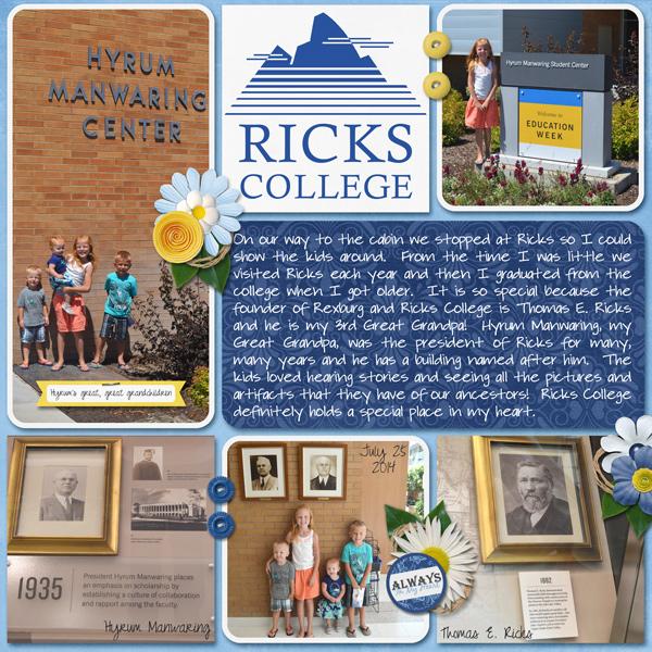 Ricks College-Never to be called BYU-Idaho!