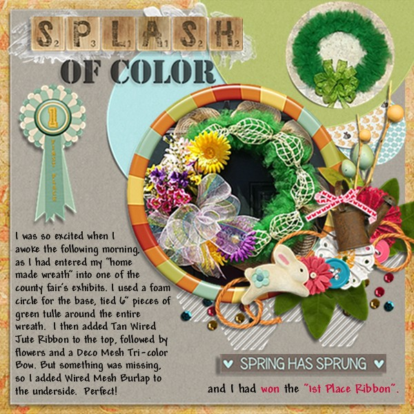 Splash of Color April 2014