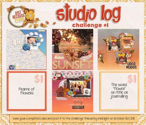 JB Studio Log Challenge October