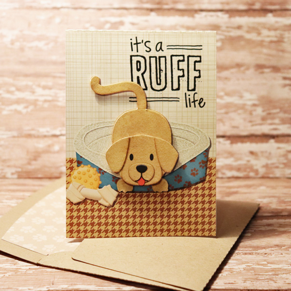 It's A Ruff Live Card with matching envie