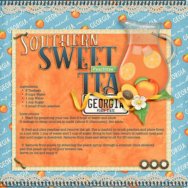 Southern Sweet Peach Tea