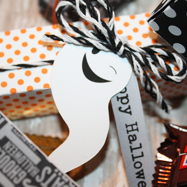 Halloween treat boxes close up
