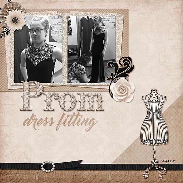 Prom dress fitting